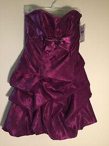 NWT Jessica McClintock for Gunne Sax size 1 plum purple juniors women's dress