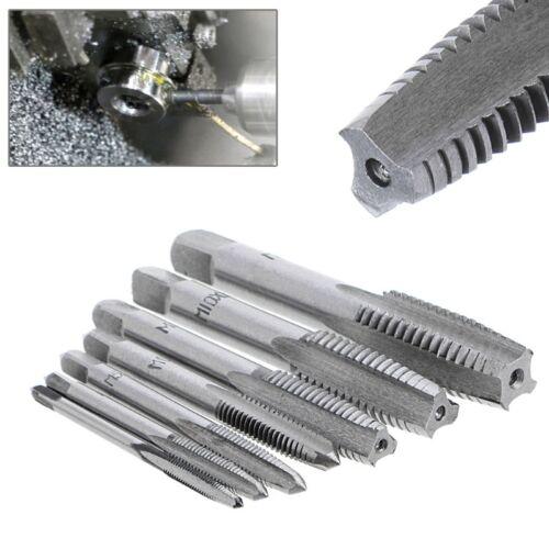 7Pcs 3mm-12mmm HSS Nitriding Metric Spiral Flute M3-M12 Screw Drill Thread Tap