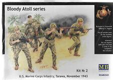 "MB #3543, 1/35, ""Bloody Atol"" US Marine Infantry, Tarawa, 1943  NEW SEALED"