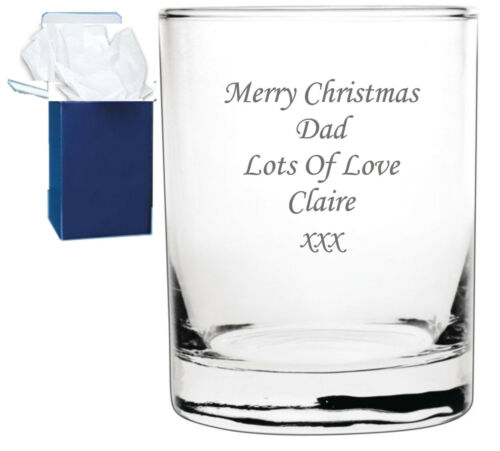 Personalised Engraved Whisky Whiskey Spirit Glass Tumbler Birthday Wedding Xmas