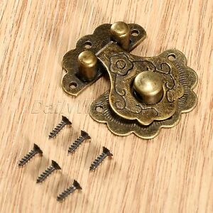 Jewelry Box Latch Hasp Case Cabinet Lock Clasp Decorative Europe