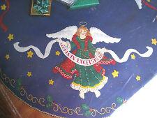 Christmas BUCILLA Felt Applique Holiday TREE SKIRT Kit,CELESTIAL ANGELS,84785