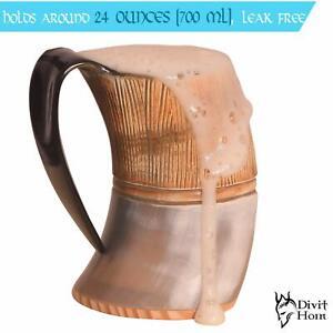 Divit-Genuine-Viking-Drinking-Horn-Mug-Authentic-Medieval-Beer-Horn-Tankard-Gift