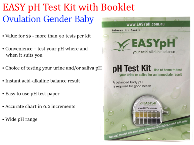 EASYpH Easy pH Test Kit  with Informative Booklet ( Ovulation Gender Baby )