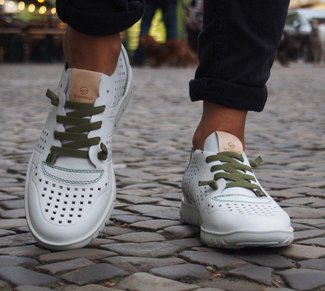 Slowwalk Schuhe Morvi Plain Echtleder Sommerschuhe Damenschuhe Slip On NEU Weiß