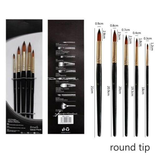 5pcs Paint Brush Set  Artist Painting Brushes Acrylic Watercolor Professional