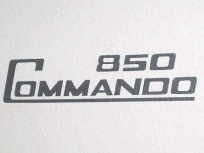 Norton 850 Commando side cover decal black 1974 1975