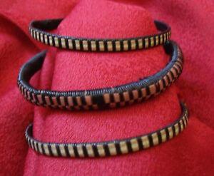 3 X Afrika Armreif / Kunststoff Folk Ethno Muster Unisex / Vintage