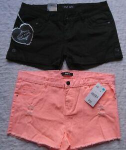 Détails sur Lot de 2 Mini Shorts Femme Taille