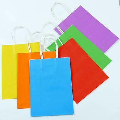 25 Large Solid Color Birthday Party Cello Treat Loot Gift Bags