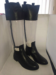 Best-Connection-Stiefel-Leder-transparenter-Schaft-Schwarz-35-36-40-41-42-NEU