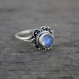 Moonstone Ring 925 Sterling Silver Ring Handmade Ring Worry Ring All Size KA-35