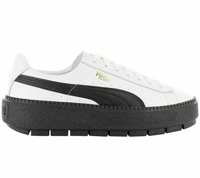 Puma Basket Platform Trace Leather Women's Sneaker 366109-02 ...