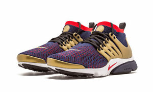 new arrival db21f 9f07a Image is loading Nike-Air-Presto-Flyknit-Ultra-Olympic-USA-Gold-