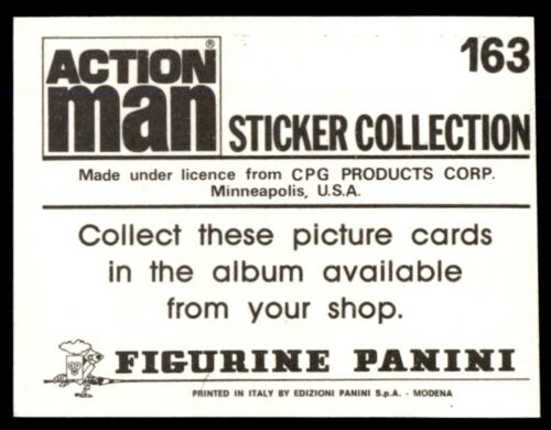 Panini Action Man Sticker 1983 No 163