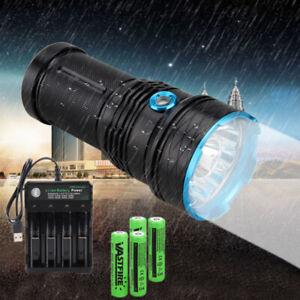 45000LM-12-XML-T6-LED-Flashlight-18650-Torch-Work-Light-Headlamp-Headlight-18650