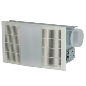 Bathroom Vent Fan with Light and Heater 70 CFM Ceiling ...