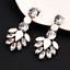 1Pair-Elegant-White-Feather-Shape-Crystal-Resin-Ear-Stud-Eardrop-Dangle-Earring thumbnail 4