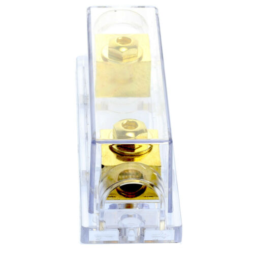 1 Holder Gold Fuseholder 4  AWG gauge inline in and out ANL Fuse 60 AMP