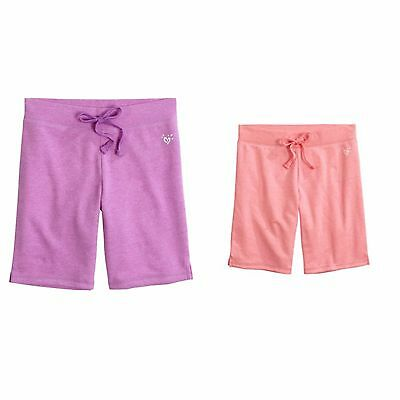 You Pick Girls 7 or 10 NWT Justice Knit Bermuda Shorts Purple or Pink