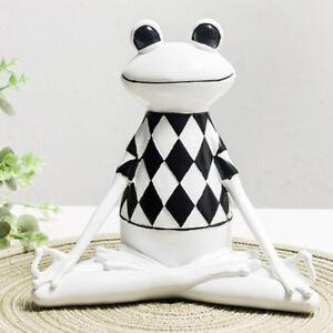 Lustige Harz 3d Yoga Frosch Neuheit Geschenke Figur Buro