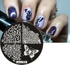 Nail Art Stamping Plates Image Plate Decoration Lace Butterflies Butterfly hehe4