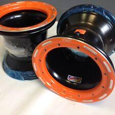 "DWT G2 ATV Orange Rear Beadlock Rims 9"" 9x8 3+5 4/115 YFZ450 YFZ450R Raptor 700"