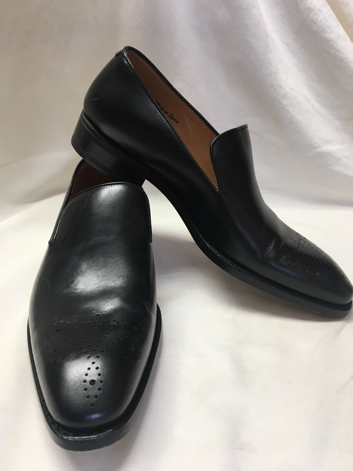 Impronta Goodyear Made In Spain Size 7 US black Leather Slip Ons 425
