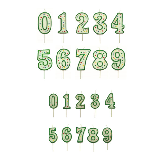 Green Wilton Numeral Candle 1