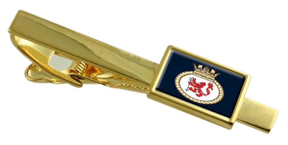 Royal Navy Hms Sutherland oro Fermacravatta Fermacravatta Fermacravatta Inciso 50d69b
