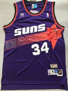 check out 960ff 535dd Details about Phoenix Suns Charles Barkley Purple Throwback Swingman Men  Jersey Size S M L XL