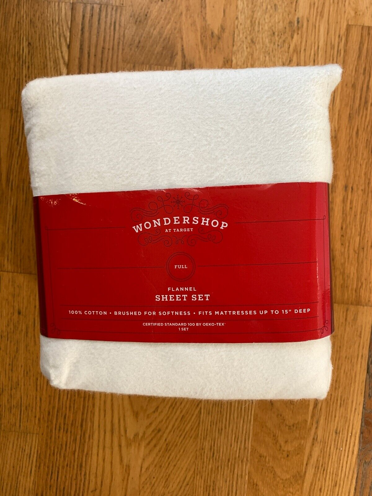 New Target Wondershop Sour Cream White 4pc Flannel Sheet Set Full For Sale Online
