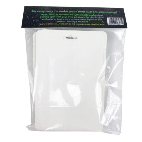 4 Pack fai da te Bootleg azione Figura Blister bolla /& bianco backing card Imballaggio