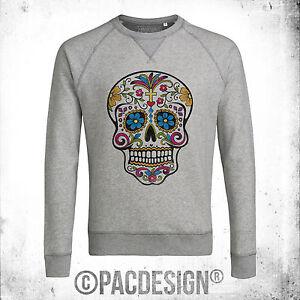 Perché Uomo Felpa Dk0209a So School Rock Punk Mexican Skull Old Tattoo Vintage 678x17