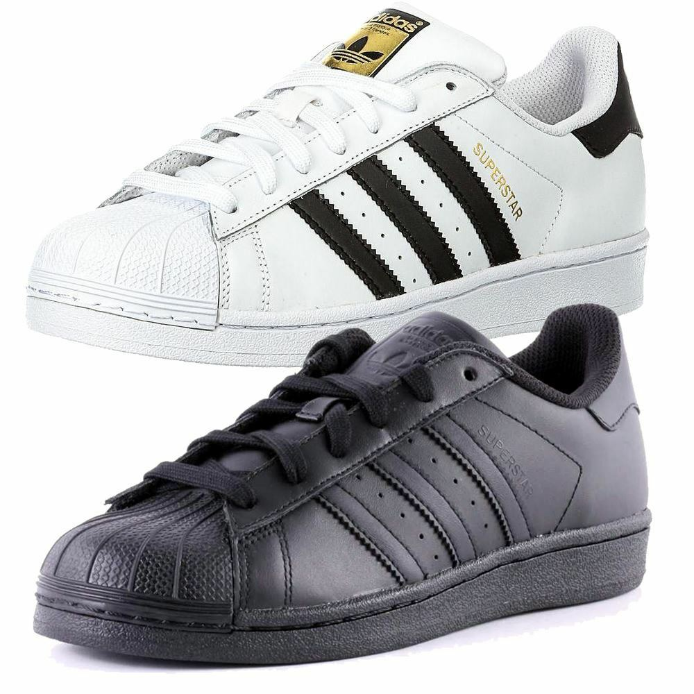 ADIDAS SUPERSTAR Hombre Negro Blanco 7 12 8 9 10 11 12 7 13 TRAINERS NEW Zapatos BNIB 272bee