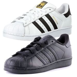 adidas shoes superstar black and white. image is loading adidas-superstar-mens-black-white-7-8-9- adidas shoes superstar black and white t
