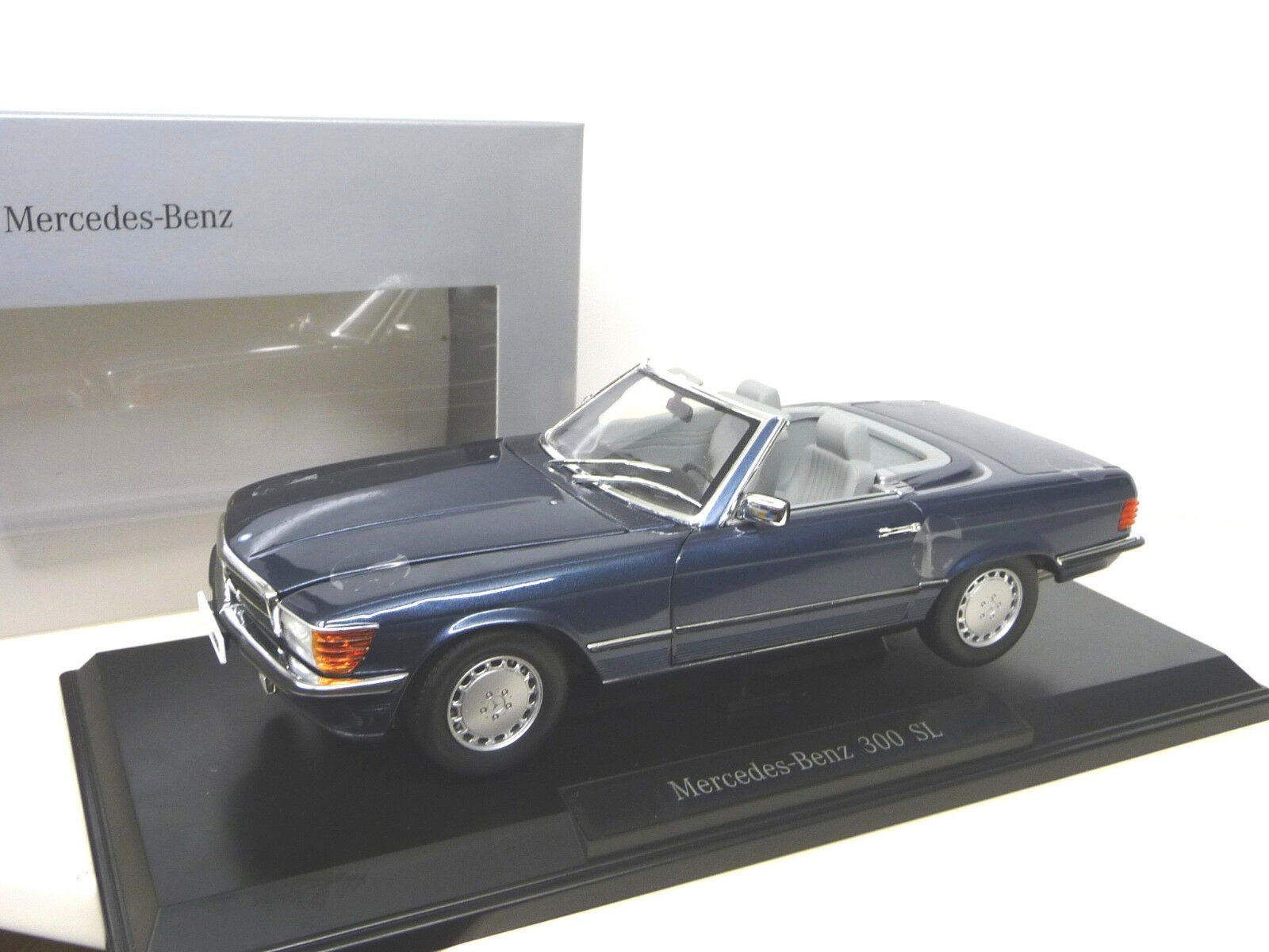 MERCEDS 300SL W107 NAUTIK blueE +  Softtop Dealer Ed. Norev 1 18 FREE SHIPPING