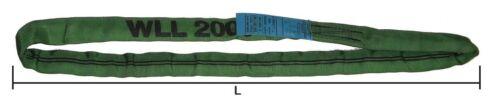4m Élingue ronde en textile Couleur VERT CMU 2000kg