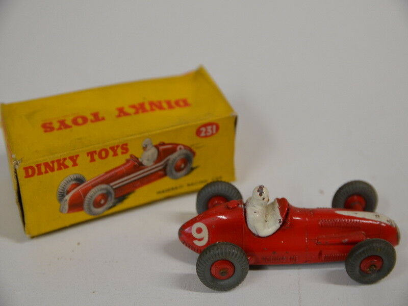 25c) Dinky Toys No. 231 Maserati Racing Car - in Red with Original Box
