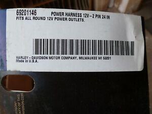 1984-2019-Harley-Davidson-Ultra-12V-to-SAE-2-PIN-Power-Harness-69201146-OEM-NEW