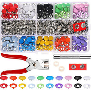 200x-Snaps-Fastener-Kit-Grommet-Tool-Kit-Snap-Pliers-Set-For-Sewing-amp-Crafting