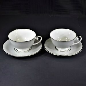 Tirschenreuth-Dawn-Footed-Cup-and-Saucer-Sets-2-Sets