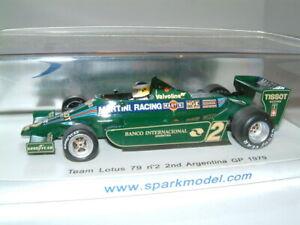 1/43 Spark Lotus 79 `martini`1979 Argentina Grand Prix `carlos Reutemann`