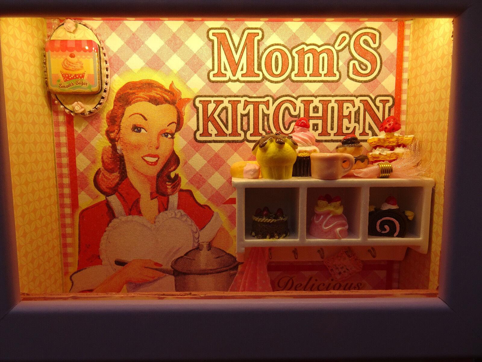 Lightbox Lightbox Lightbox Schaukasten Nachtlicht LED Geschenk Handarbeit Unikat Moms Kitchen | New Products  |  7fa9f7
