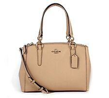 Coach * Mini Christie Crossgrain Leather Satchel Bag Beechwood Beige COD PayPal