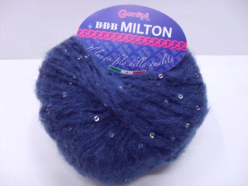 BBB MILTON  19/% MOHAIR 20/% LANA 41/% ACR. NUOVI ARRIVI 1 GOMITOLO 50 GR 100 MT