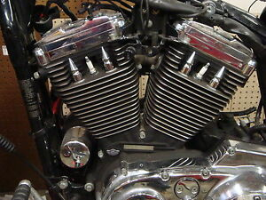 HARLEY DAVIDSON TALL CHROME HEAD BOLT SPIKE COVERS headbolt spikes