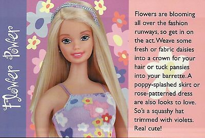 "Barbie Doll Postcard Fashion Collectible Photo Card Mattel /"" Little Sister /"""