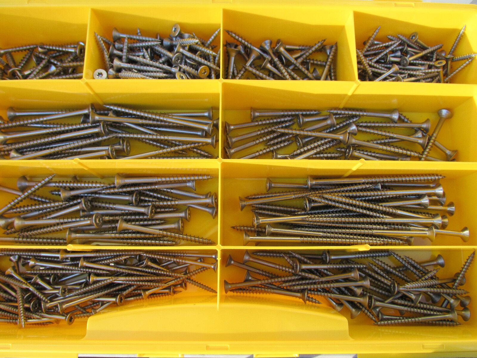 800 Teile Torx Edelstahl Spanplatten Schrauben Sortiment Set 3 - 3,5 - 4