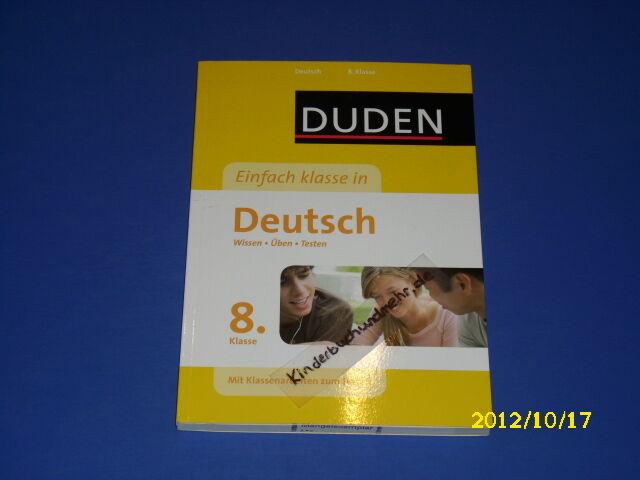 Duden - Einfach klasse in Deutsch - 8. Klasse (2624) - unbekannt